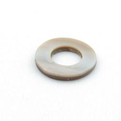 Schelp kraal, rond, open, grijs, 20 mm (5 st.)