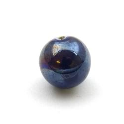Keramiek kraal, rond, zwart, 18 mm (3 st.)