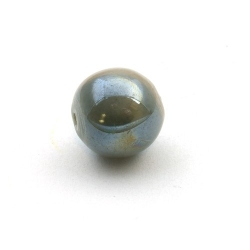 Keramiek kraal, rond, grijs, 16 mm (3 st.)
