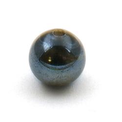 Keramiek kraal, rond, zwart, 12 mm (3 st.)