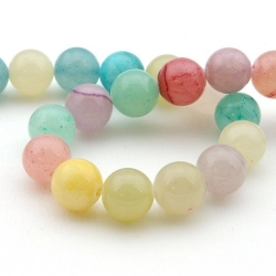 Gekleurd steen kraal, rond, mix, 10 mm (10 st.)