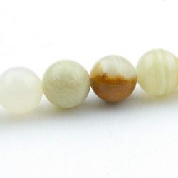 Halfedelsteen kraal, Afghaanse Jade, rond, 6 mm (streng)