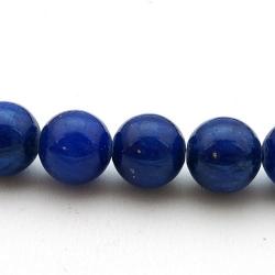 Gekleurd steen kraal, rond, donkerblauw, 12 mm (5 st.)
