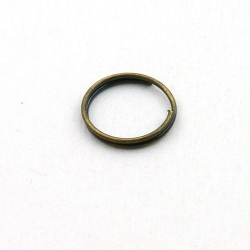 Ring split antique goud 12 mm (10 gram)
