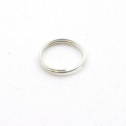 Ring split zilver 12 mm (10 gram)