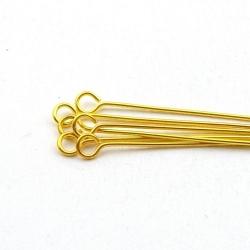 Kettelstiften, goud, 28 mm (10 gram)