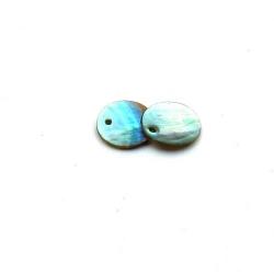 Schelpbedels, grijsblauw, 12 mm (12 gr.)