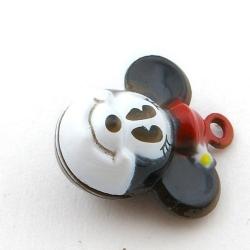 Metaal, belletje, Minnie Mouse, 24 mm (1 st.)