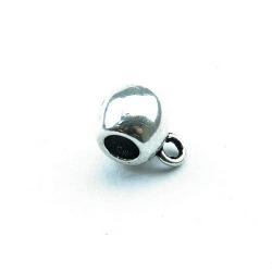 Metaal, tussenkraal voor hanger, zilver, 12 x 8 mm (5 st.)