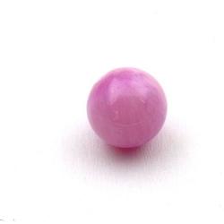 Gekleurd steen kraal, rond, lila, 14 mm (3 st.)