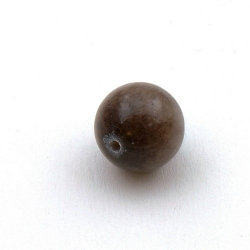 Gekleurd steen kraal, rond, bruin, 14 mm (3 st.)