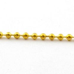 Ballchain, goud, 3 mm (5 meter)