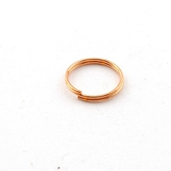 Ring split roségoud 12 mm (10 gram)