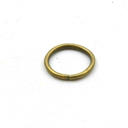 Ring open antique goud 12 mm (10 gram)