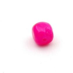 Gekleurd steen kraal, brok, roze, ca. 10 mm (streng)