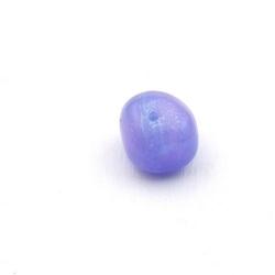 Gekleurd steen kraal, brok, paars, ca. 10 mm (streng)
