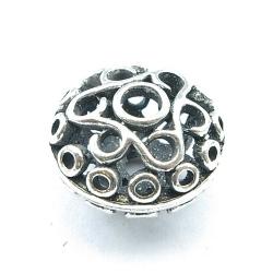 Filligrain, Metalen kraal, donut, zilver, 20 mm (3 st.)