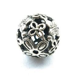 Filligrain, Metalen kraal, rond, zilver, 18 mm (3 st.)