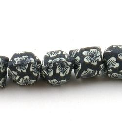 Fimokraal, hoekig, zwart, 14 mm (streng)