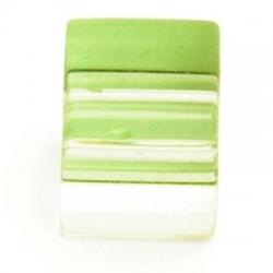 Glaskraal, vierkant, l.groen, 8x8 mm (10 st.)