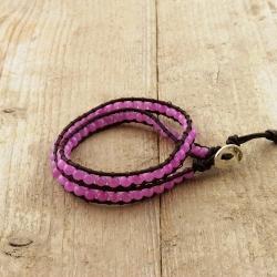 Chan Luu Style Armband, Afgaanse Jade Roze