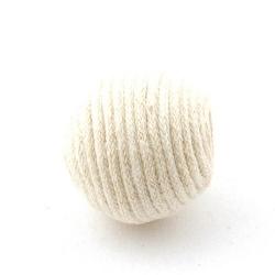 Touwkraal, wit, 21 mm (3 st.)