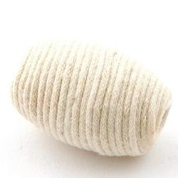 Touwkraal, ovaal, wit, 34 x 22 mm (3 st.)