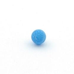 Fire Agaat, kraal, rond, blauw, 8 mm (15 st.)