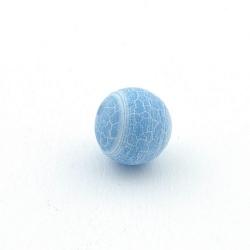 Fire Agaat, kraal, rond, blauw, 12 mm (5 st.)