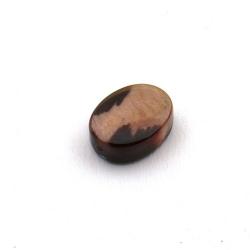 Schelp kraal, ovaal, dierenprint, 14 mm (5 st.)