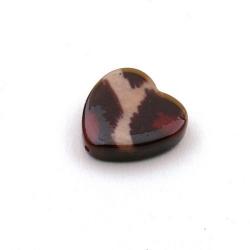 Schelp kraal, hart, dierenprint, 16 mm (3 st.)