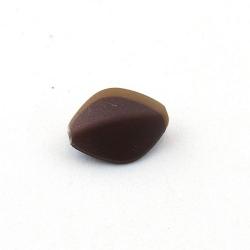 DQ Acryl kraal hoekig bruin metallic 18 x 14 mm (10 st.)