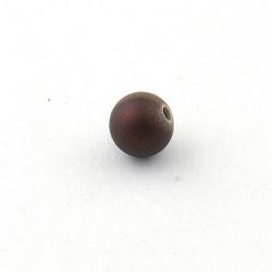 DQ Acryl kraal rond bruin metallic 10 mm (10 st.)