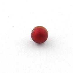 DQ Acryl kraal rond rood metallic 10 mm (10 st.)