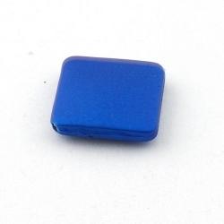 DQ Acryl kraal vierkant blauw metallic 20 mm (5 st.)