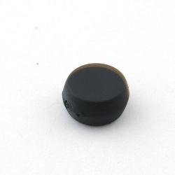 DQ Acryl kraal rond plat zwart metallic 16 mm (10 st.)