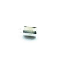 Veterklem, rond, zilver, 4 x 10 mm (25 st.)