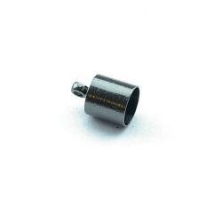 Eindkapje, blackplated, rond, 10 mm, binnenmaat 6 mm (10 st.)