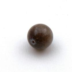 Gekleurd steen kraal, rond, bruin, 12 mm (streng)