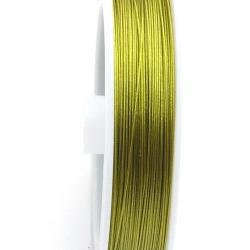 Staaldraad olijfgroen 0.3mm (100 mtr.)