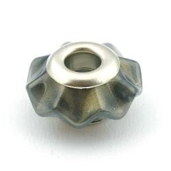 Pandora style kraal, DQ acryl, 25 mm, parelmoer mix (3 st.)