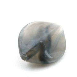 DQ Acryl kraal ovaal hoekig grijs 28 x 24 mm (3 st.)