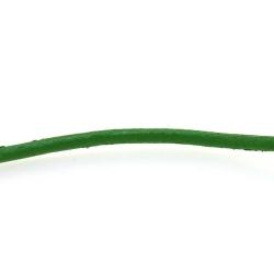 Natuurleer, groen, 2 mm (1 meter)