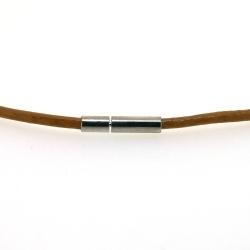 Ketting van leer, camel, 2 mm (1 st.)