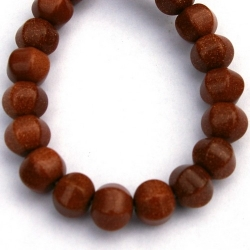 Brown Goldstone kraal rond facet 12 mm (42 st.)
