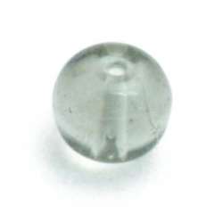 Glaskraal, rond, grijs, 6 mm (25 st.)
