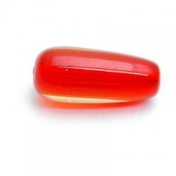 Glaskraal, druppel, rood, 18 x 10 mm (5 st.)