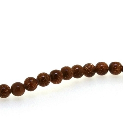 Brown Goldstone kraal rond 4 mm (20 st.)