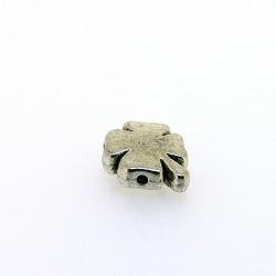 Metalen kraal, klavertje vier, zilver, 14 mm (3 st.)