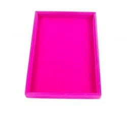 Presentatiedisplay, velours, roze (1 st.)